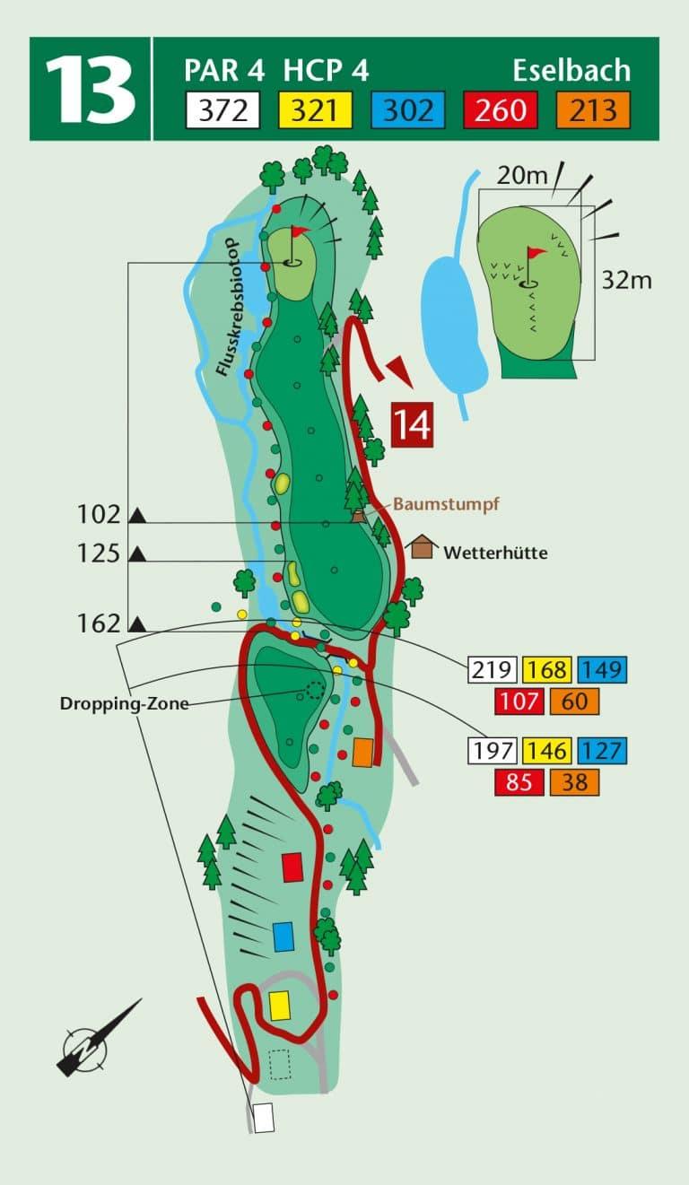 Bierdiebook Championship course Loch 13
