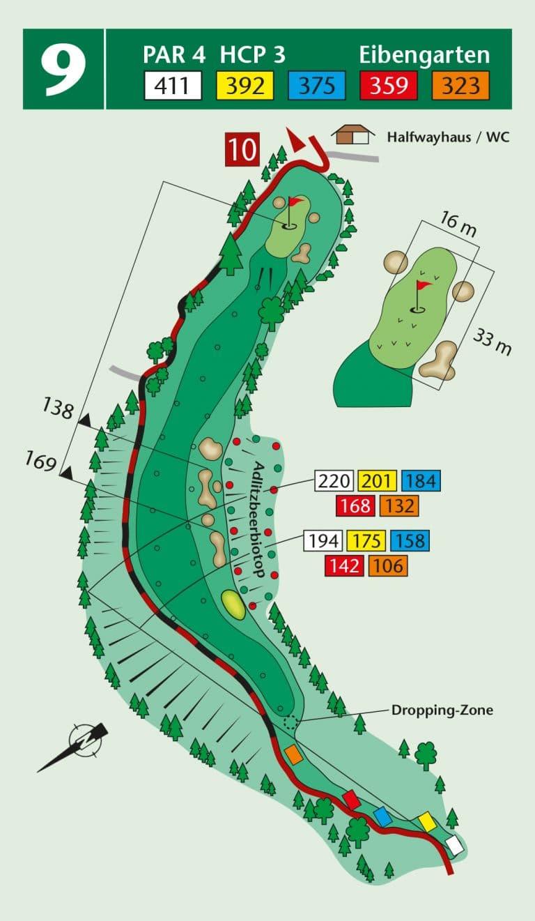 Bierdiebook Championship course Loch 9