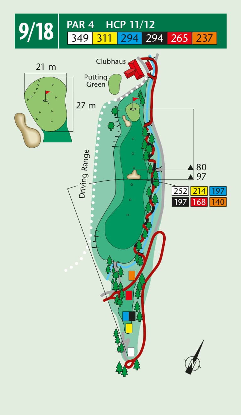 Birdiebook wallerbach course loch 9