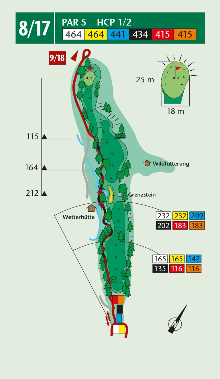 Birdiebook wallerbach course loch 8